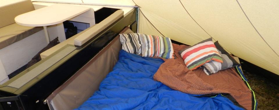 Tipitrailers - slapen